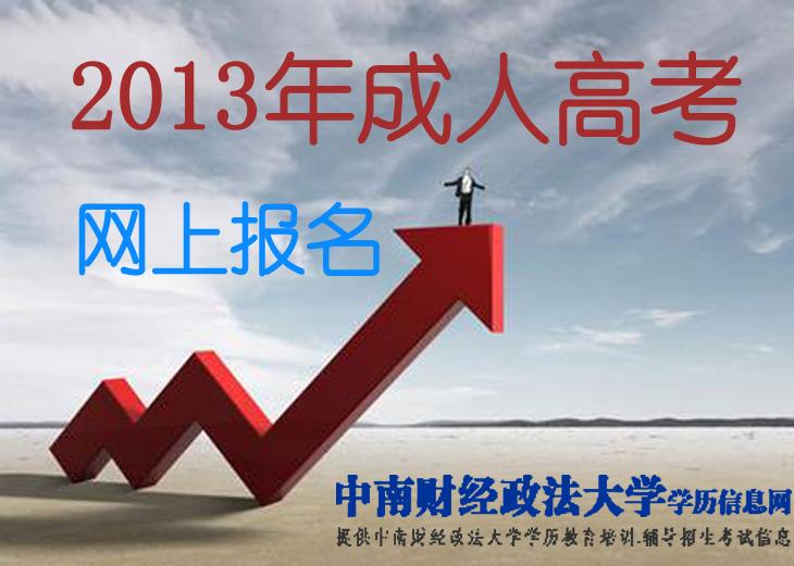 2013年中南财经政法大学成人高考网上报名时间